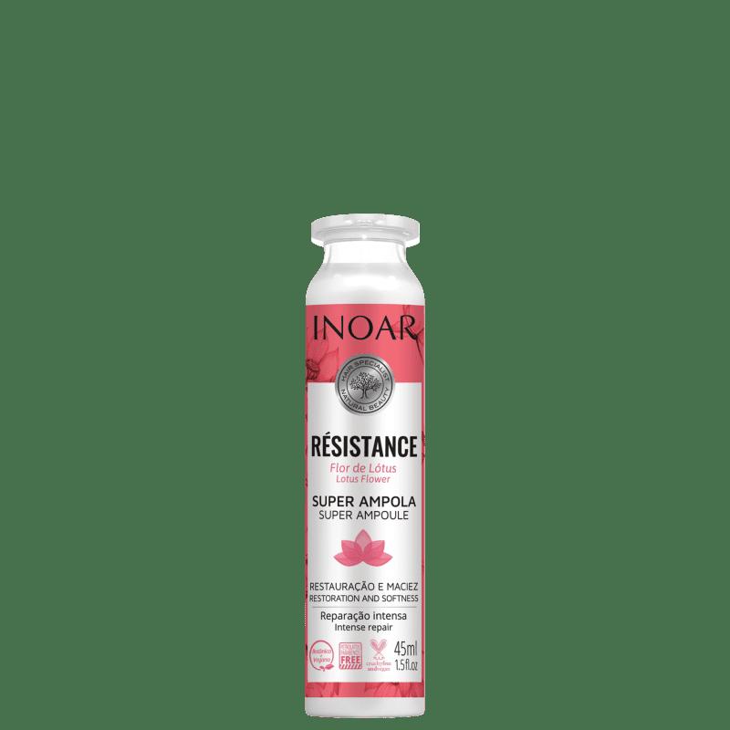 Inoar Résistance Flor de Lótus - Ampola Capilar 45ml
