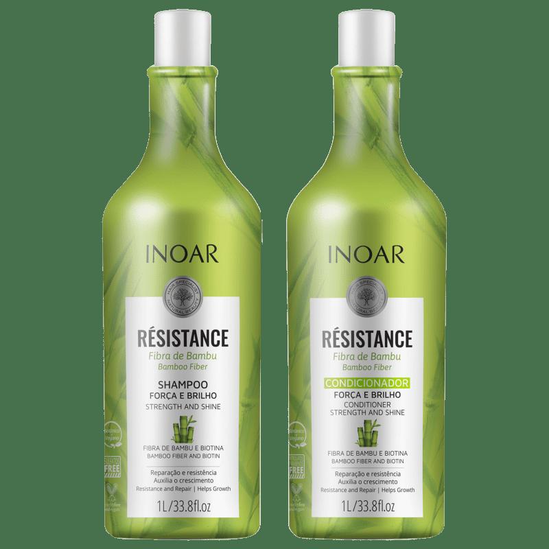 Kit Inoar Résistance Fibra de Bambu Salon Duo (2 Produtos)