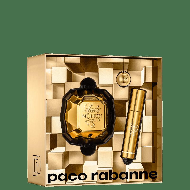 Conjunto Lady Million Double Paco Rabanne Feminino - Eau de Parfum 50ml + Travel Size 10ml