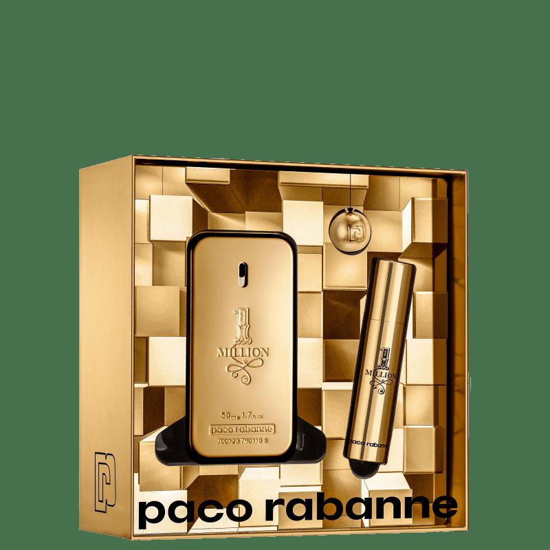 Conjunto 1 Million Double Paco Rabanne Masculino - Eau de Toilette 50ml + Travel Size 10ml