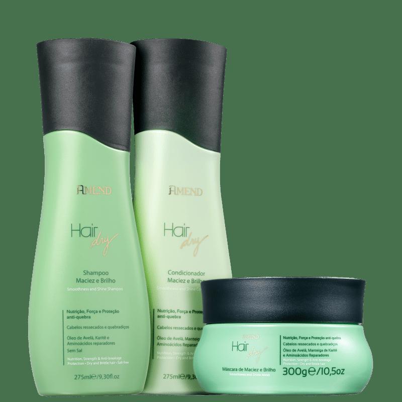 Kit Amend Hair Dry Maciez e Brilho Tratamento (3 Produtos)