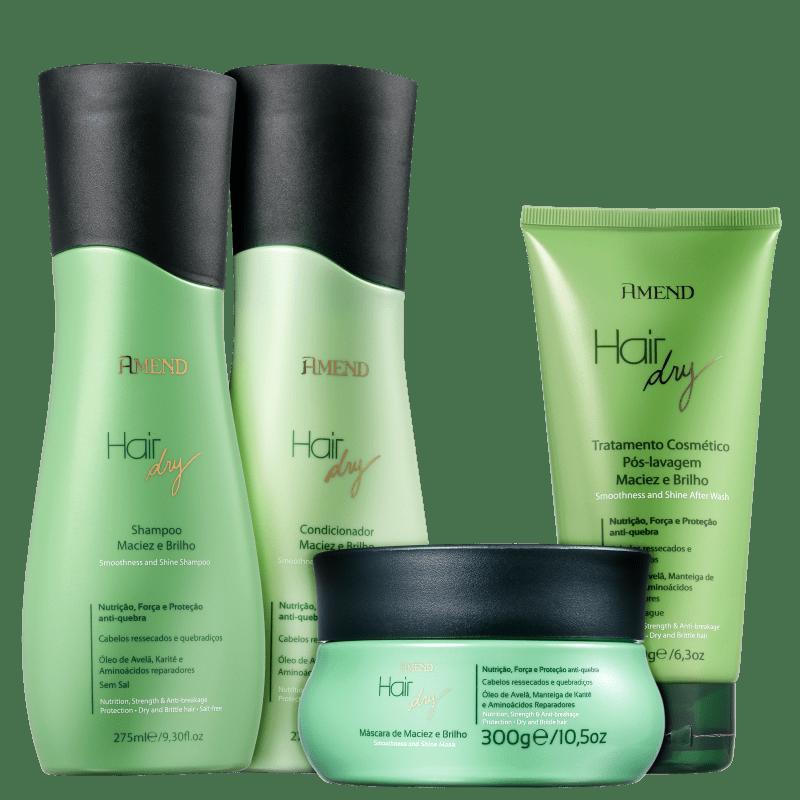 Kit Amend Hair Dry Maciez e Brilho Full (4 Produtos)