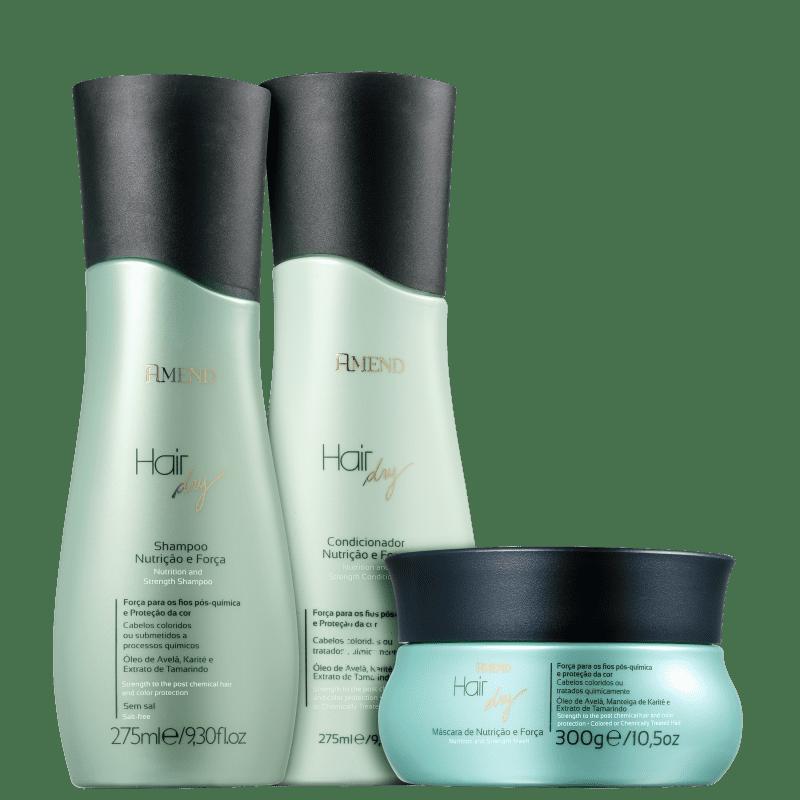 Kit Amend Hair Dry Força e Nutrição Tratamento (3 Produtos)
