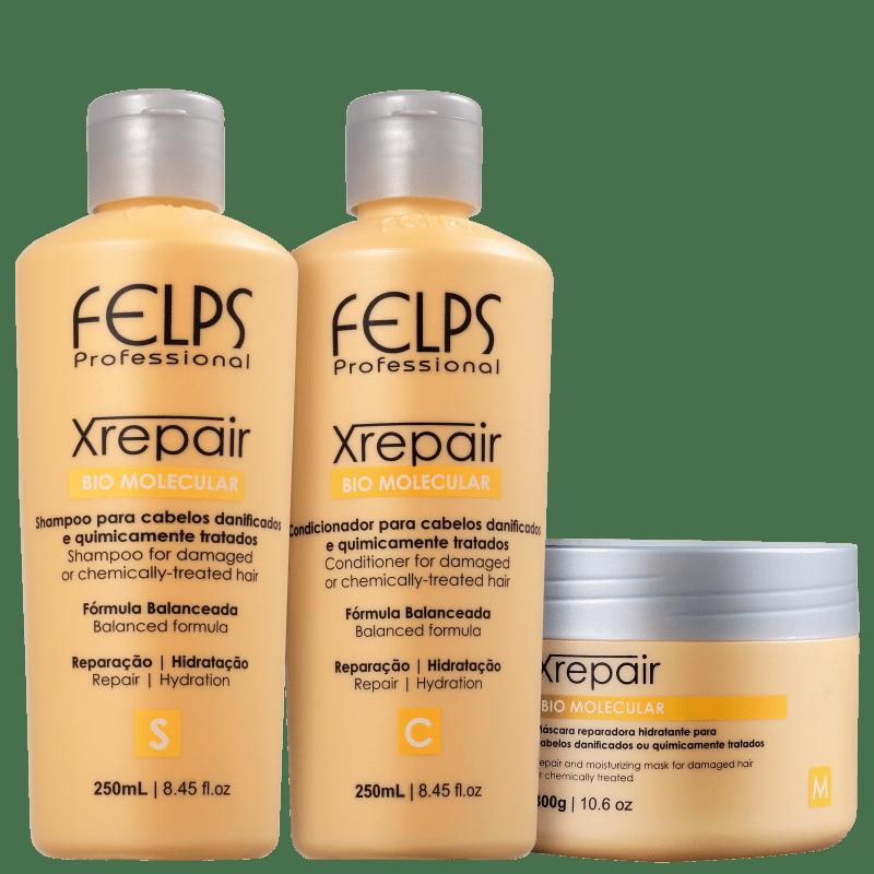 Kit Felps Profissional XRepair Bio Molecular Trio (3 Produtos)