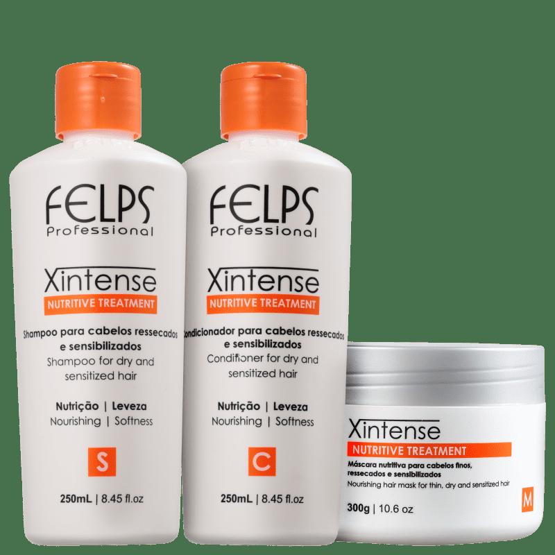Kit Felps Profissional XIntense Nutritive Treatment Trio (3 Produtos)