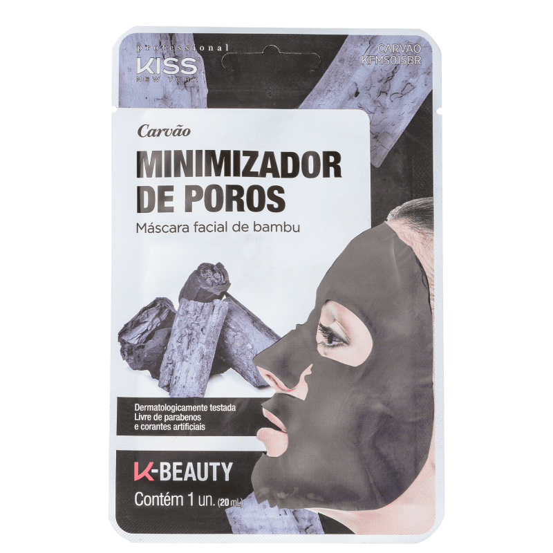 Kiss New York Carvão Minimizador de Poros - Máscara Facial 20ml