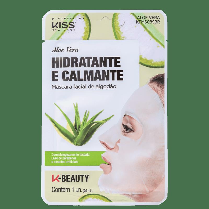 Kiss New York Aloe Vera Hidratante e Calmante - Máscara Facial 20ml