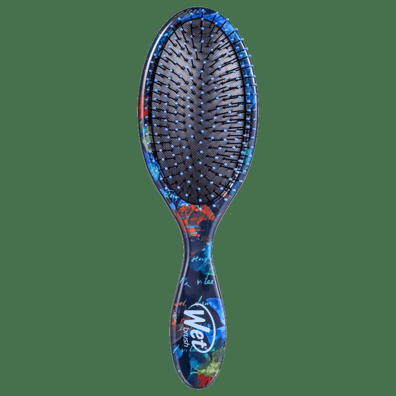 Wet Brush Pro Original Detanger Night Florals Azul - Escova de Cabelo
