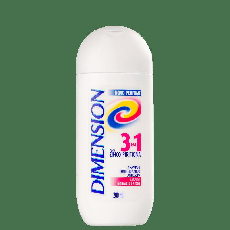 Dimension 3 em 1 Zinco Piritiona Secos - Shampoo Anticaspa 200ml