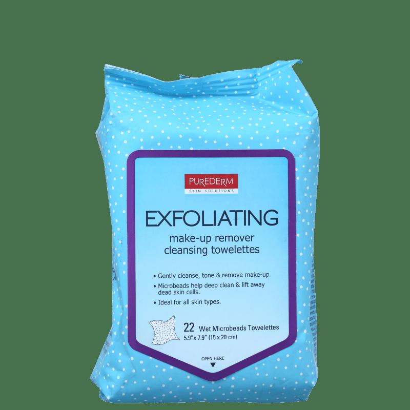 Purederm Exfoliating - Lenço Demaquilante (22 Unidades)