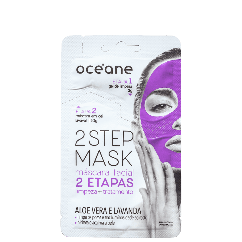 Océane 2 Step Aloe Vera e Lavanda - Máscara Facial 13g