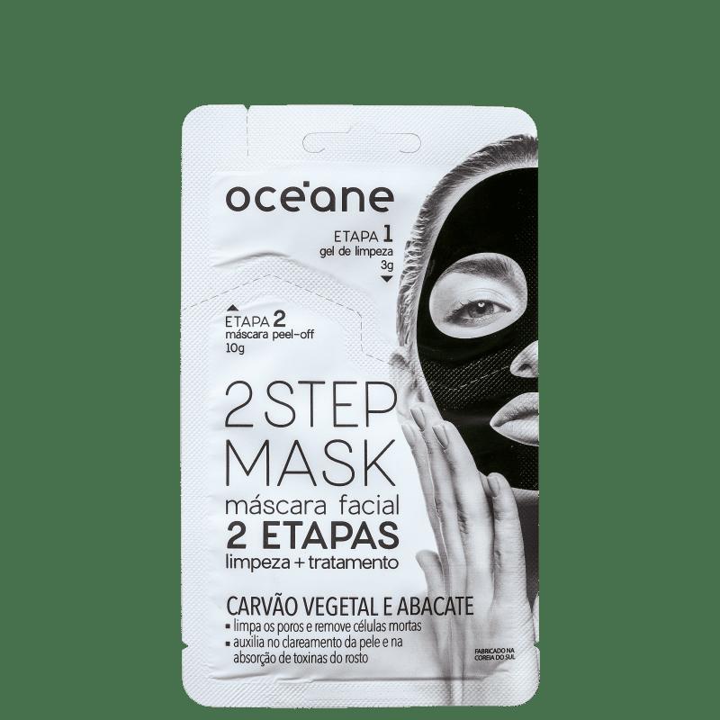 Océane 2 Step Carvão Vegetal e Abacate - Máscara Facial 13g