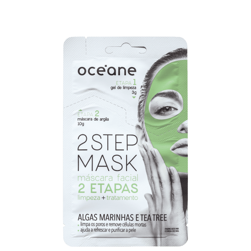 Océane 2 Step Algas Marinhas e Tea Tree - Máscara Facial 13g
