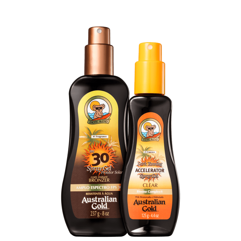 Kit Australian Gold Summer - Protetor Solar Corporal 237ml + Bronzeador 125ml