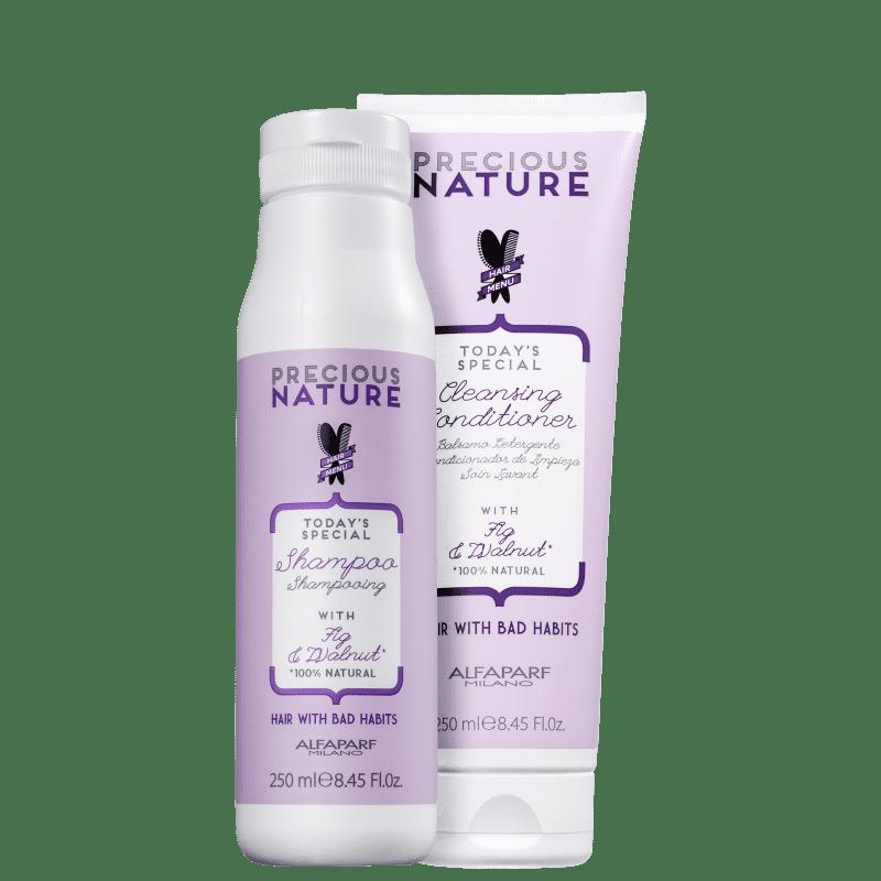 Kit Alfaparf Precious Nature Hair With Bad Habits Cleansing (2 Produtos)