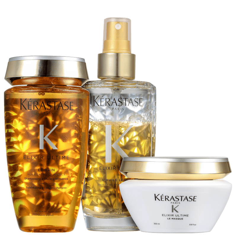 Kit Kérastase Elixir Ultime Masque Légère (3 Produtos)