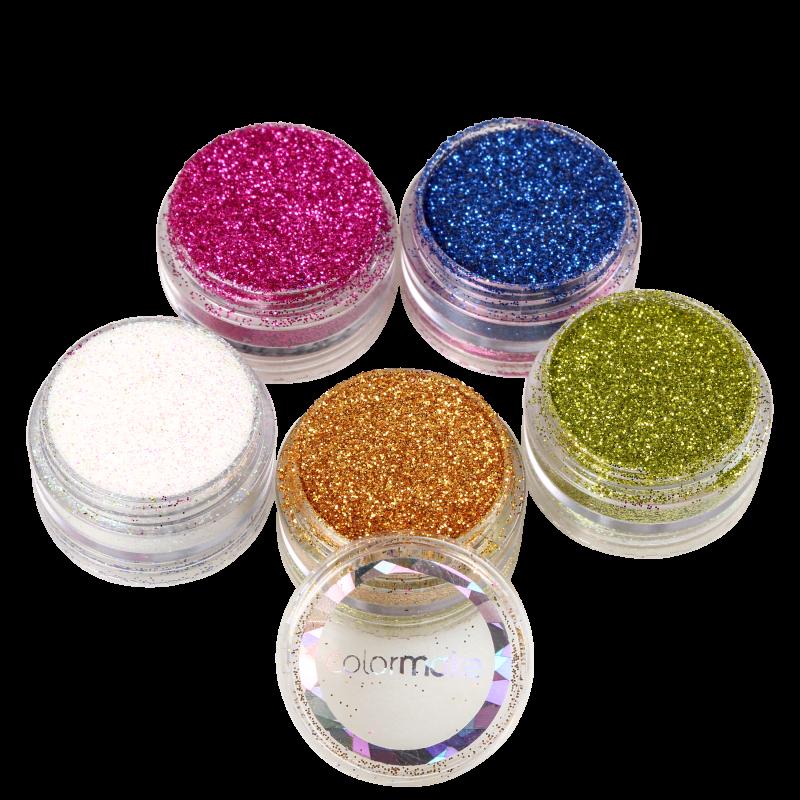 Kit Colormake Glitter em Pó (5 Unidades)