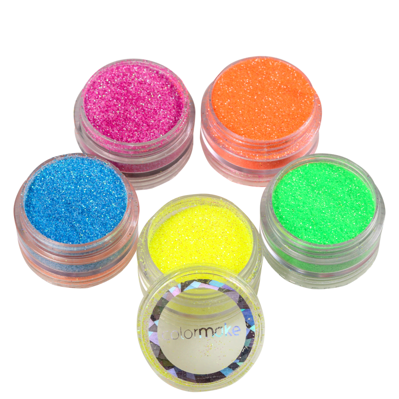 Kit Colormake Glitter em Pó Iridescente (5 Unidades)