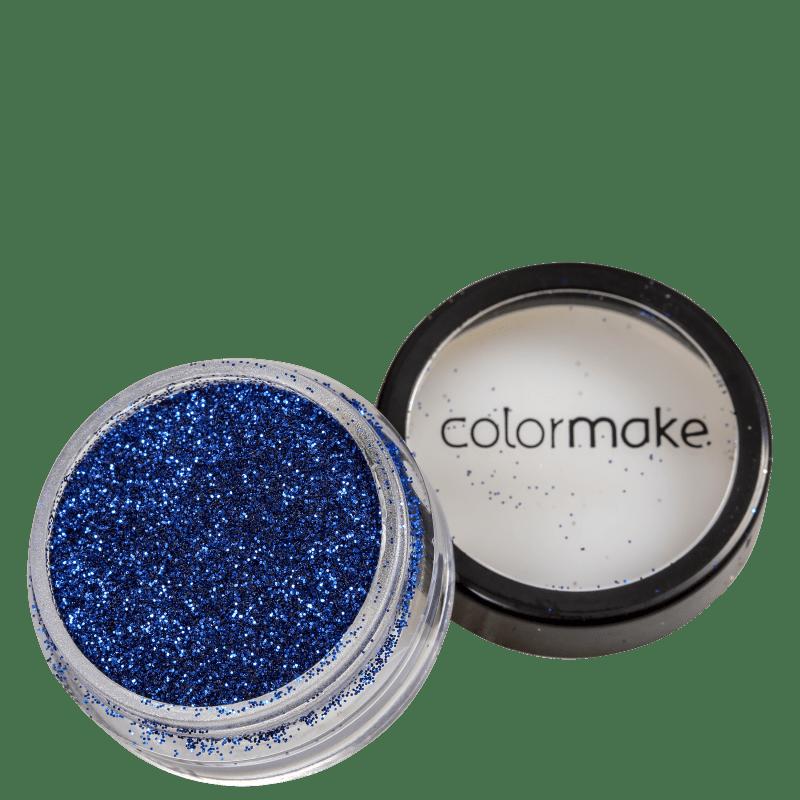 Colormake Pó Pote Azul - Glitter 4g