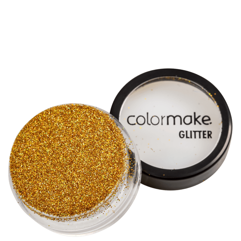 Colormake Pó Pote Ouro Holográfico - Glitter 4g