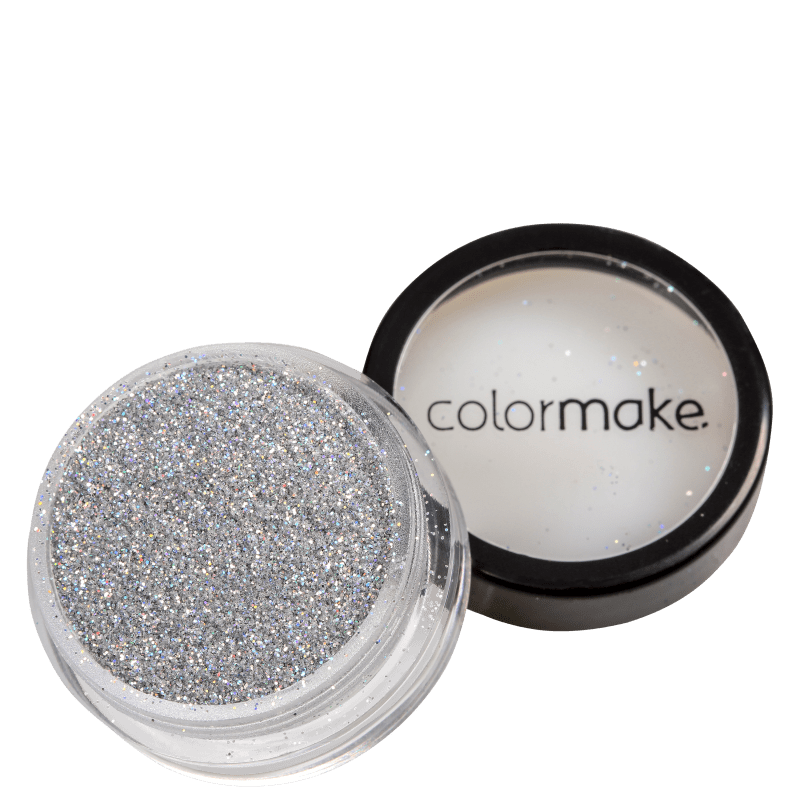 Colormake Pó Pote Prata Holográfico - Glitter 4g