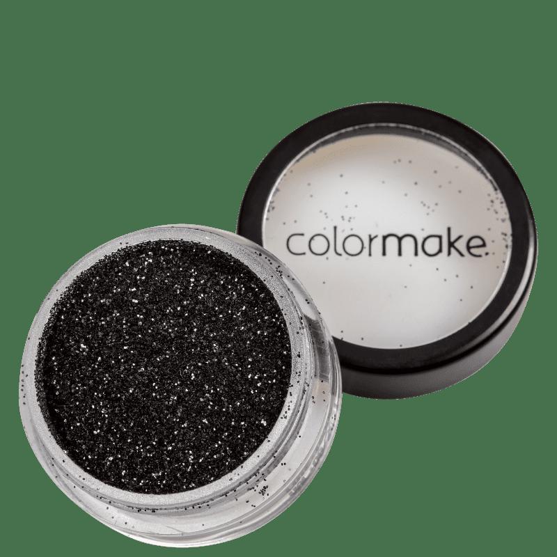 Colormake Pó Pote Preto - Glitter 4g