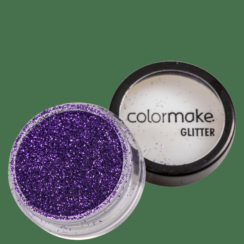 Colormake Pó Pote Roxo - Glitter 4g