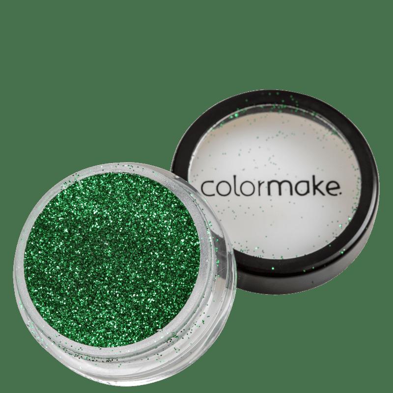 Colormake Pó Pote Verde - Glitter 4g