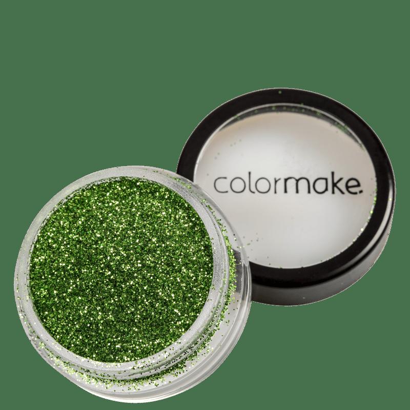 Colormake Pó Pote Verde Claro - Glitter 4g