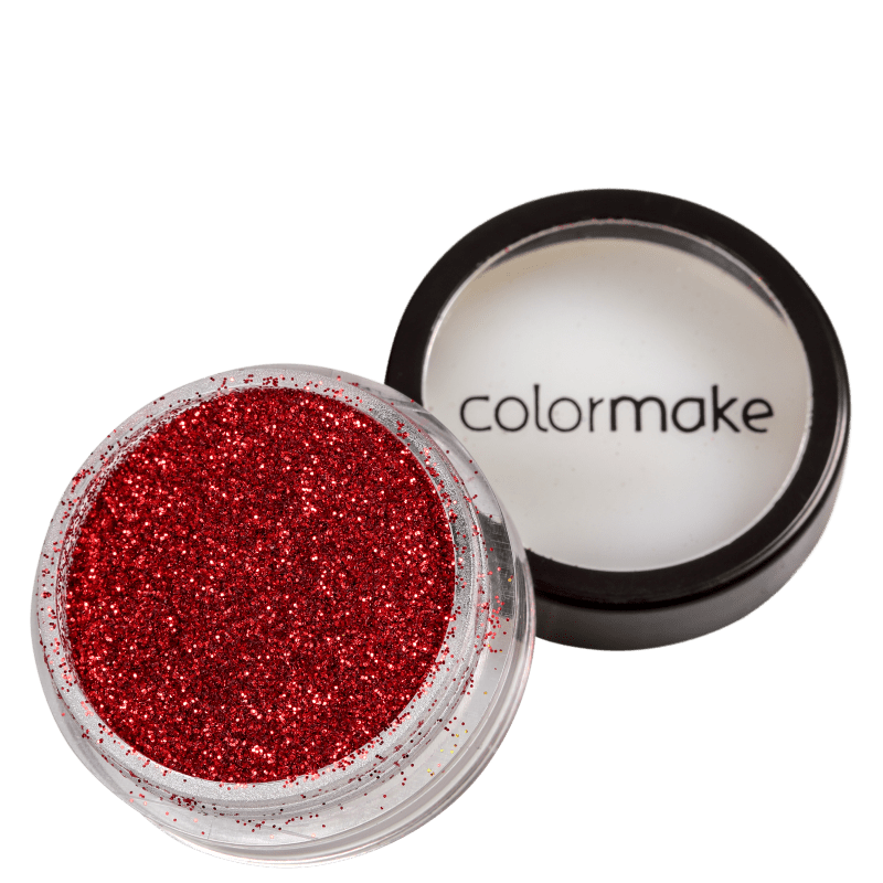 Colormake Pó Pote Vermelho - Glitter 4g