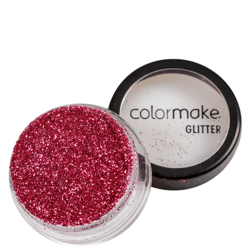 Colormake Pó Pote Rosa - Glitter 4g