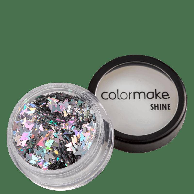 Colormake Shine Formatos Borboleta Prata - Glitter 2g