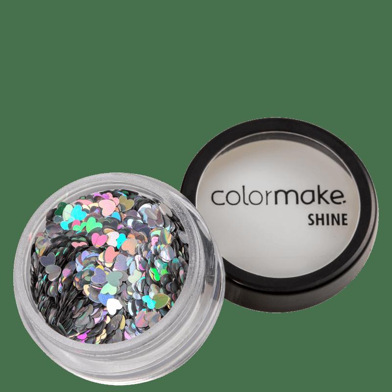 Colormake Shine Formatos Coração Prata - Glitter 2g