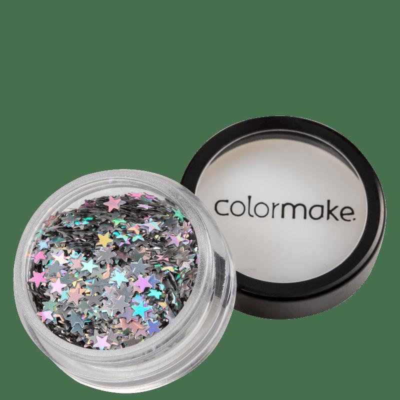 Colormake Shine Formatos Estrela Prata - Glitter 2g