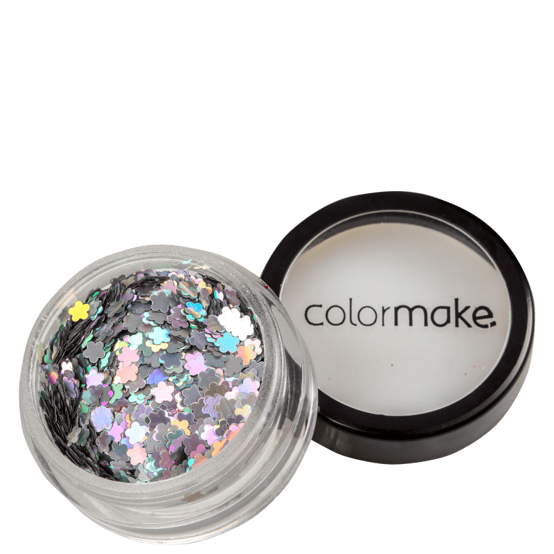 Colormake Shine Formatos Flor Prata - Glitter 2g