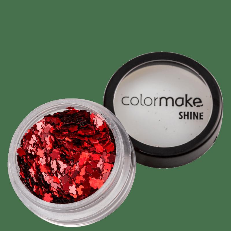 Colormake Shine Formatos Flor Vermelho - Glitter 2g