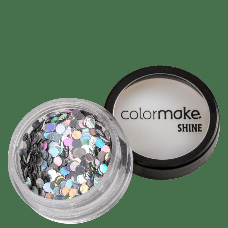 Colormake Shine Formatos Ponto Prata - Glitter 2g