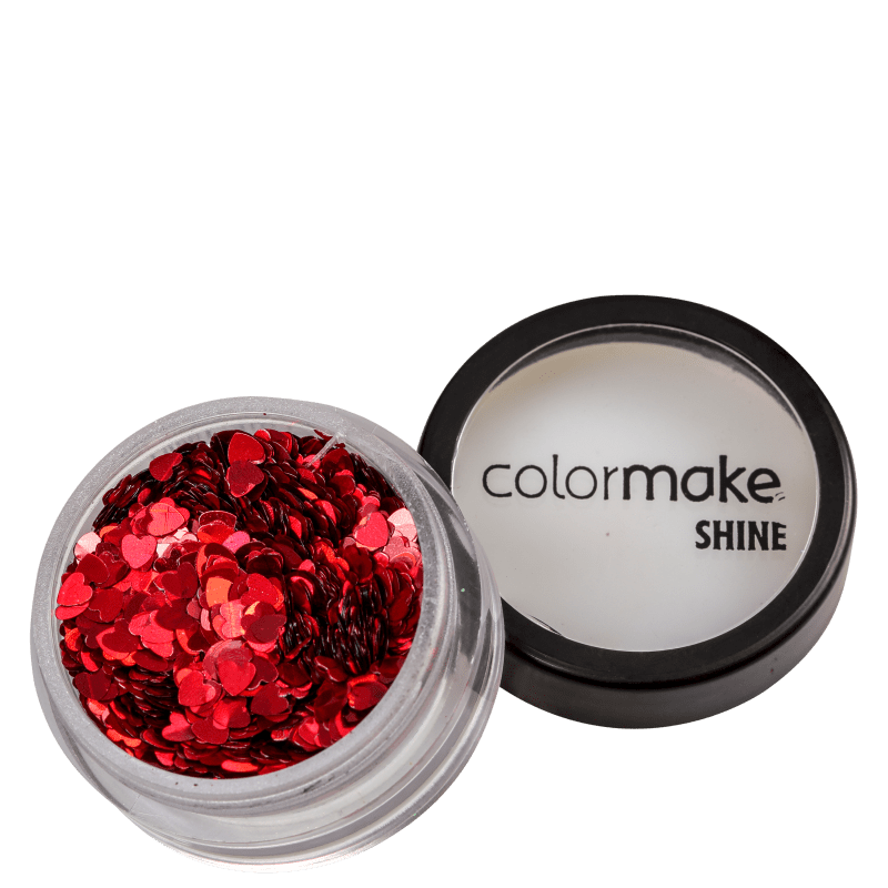 Colormake Shine Formatos Coração Vermelho - Glitter 2g