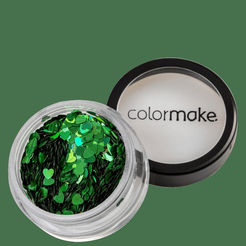 Colormake Shine Formatos Coração Verde - Glitter 2g
