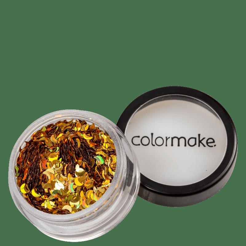 Colormake Shine Formatos Meia Lua Ouro - Glitter 2g
