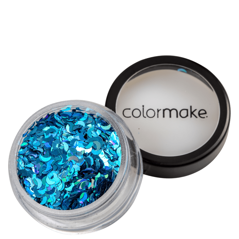 Colormake Shine Formatos Meia Lua Azul Turquesa - Glitter 2g