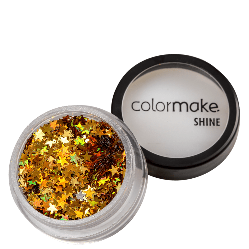 Colormake Shine Formatos Estrela Ouro - Glitter 2g