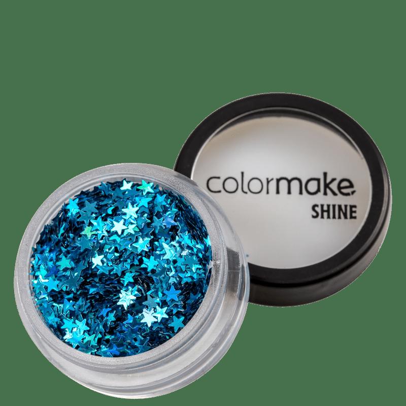Colormake Shine Formatos Estrela Azul Turquesa - Glitter 2g