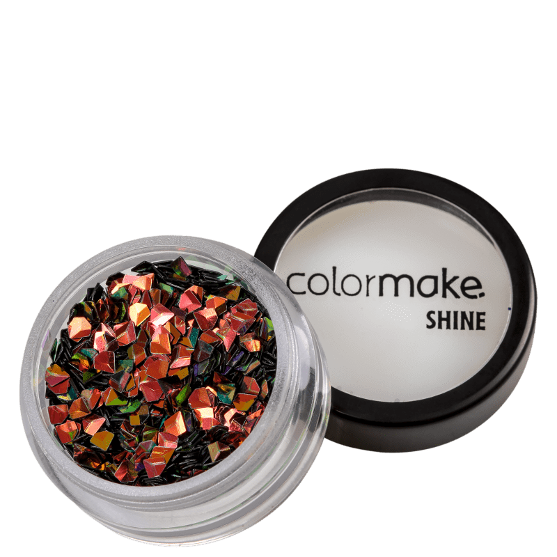 Colormake Shine Formatos Diamante 3D Bronze - Glitter 2g