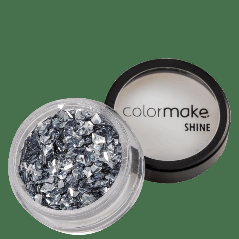 Colormake Shine Formatos Diamante 3D Prata Holográfico - Glitter 2g