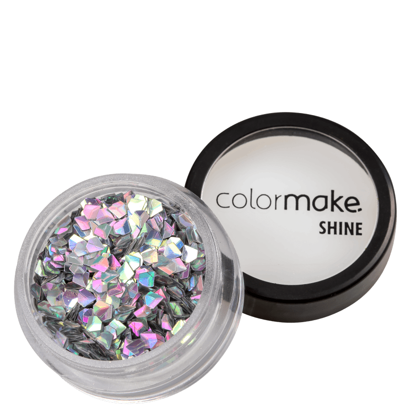 Colormake Shine Diamante 3D Prata Holográfico - Glitter 2g
