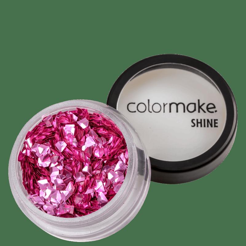 Colormake Shine Formatos Diamante 3D Rosa - Glitter 2g