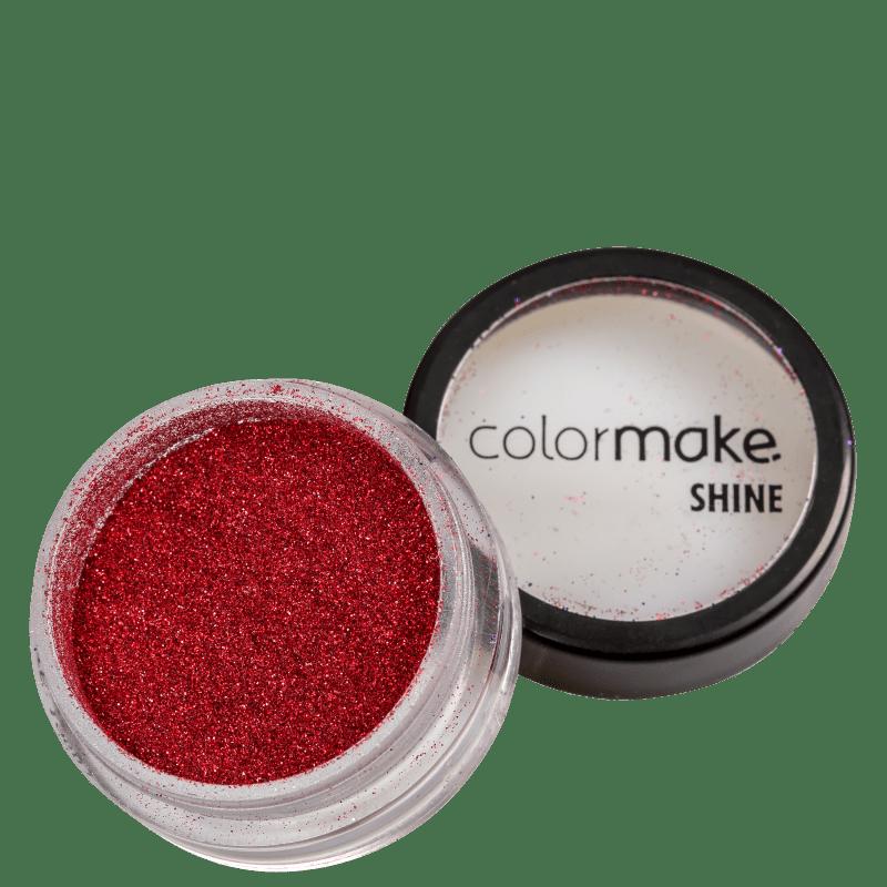 Colormake Shine Extra Fino Vermelho - Glitter 3g