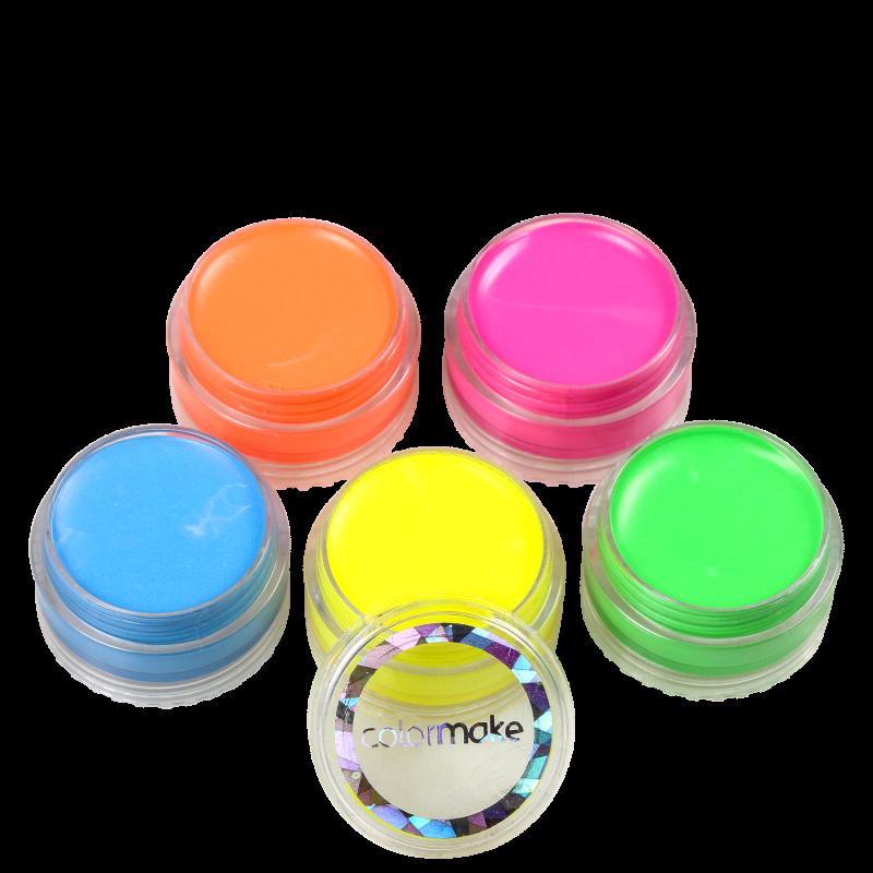 Kit Colormake Tinta Facial Fluorescente (5 Produtos)