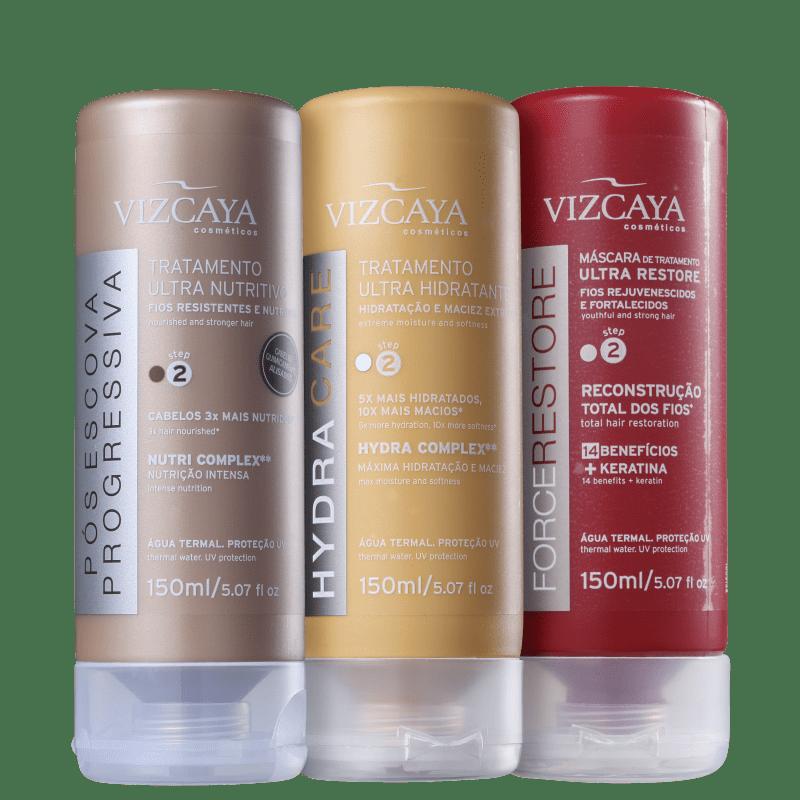 Kit Viscaya Cronograma Capilar Ultra (3 Produtos)